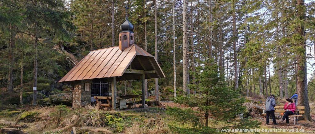 Osser Wanderung künische Kapelle Sehenswürdigkeiten bei Lam