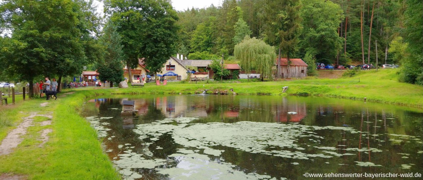 Wandern im Otterbachtal bei Regensburg Gasthaus Koreawirt in Wald
