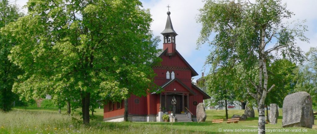 Sehenswürdigkeiten bei Philippsreut Tusset Kapelle im Dreiländereck