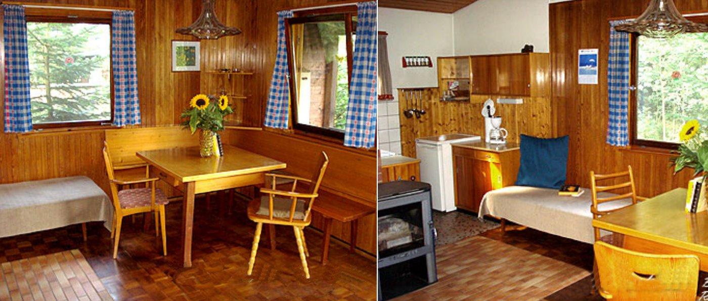 Einsame Ferienhütte im Bayerischen Wald mieten Holzhaus in Bayern