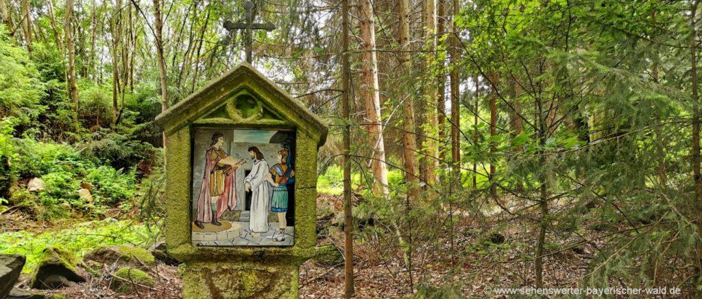 Kreuzweg zur Kesselbodenkapelle Igleinsberg bei Prackenbach