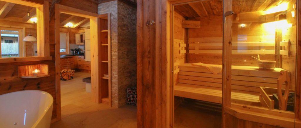 Romantikhütte mit Wellness Chalet mit Sauna in Bayern
