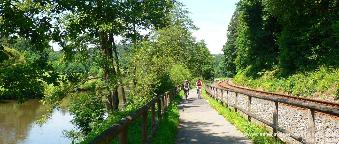 Radtour im Landkreis Cham Radfahren am Regentalradweg zwischen Chamerau und Miltach