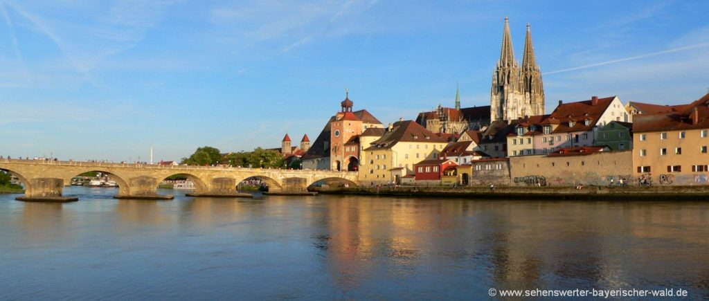 Regensburger Dom und steinerne Brücke in Regensburg