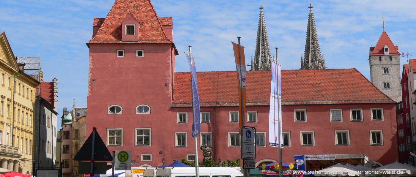 Regensburg Altstadt Sehenswürdigkeiten der Innenstadt Adresse Parkplatz