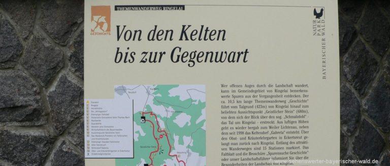 ringelai-keltendorf-gabreta-wanderweg-hinweisschild-ausflugsziele
