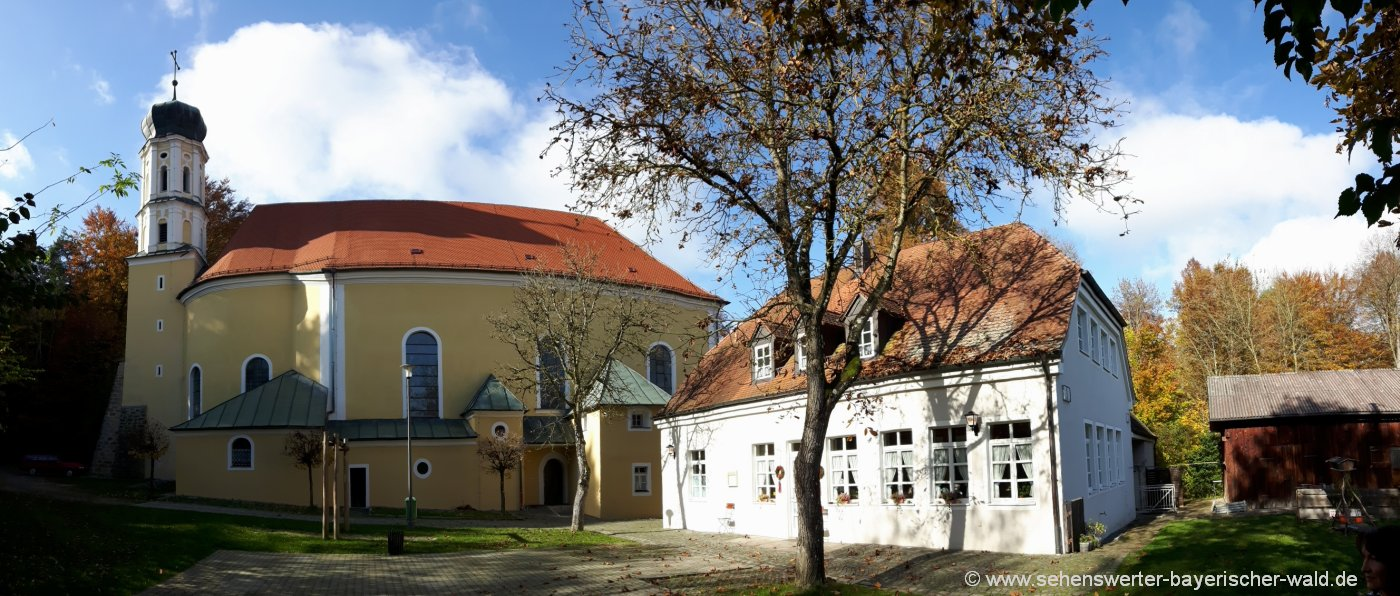 Rundweg ab Roding zum Ausflugsziel Heilbründl Wallfahrtskirche