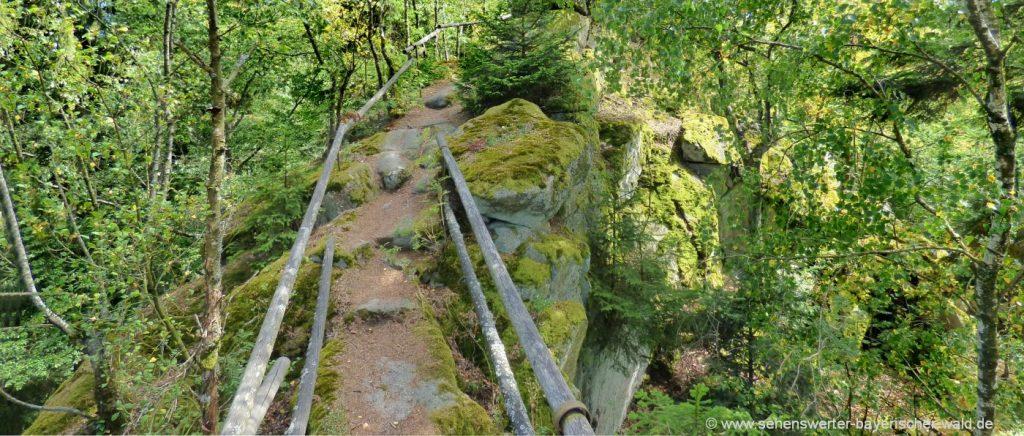 Wanderung Steinerne Wand Schwarzwihrberg Rundweg bei Rötz