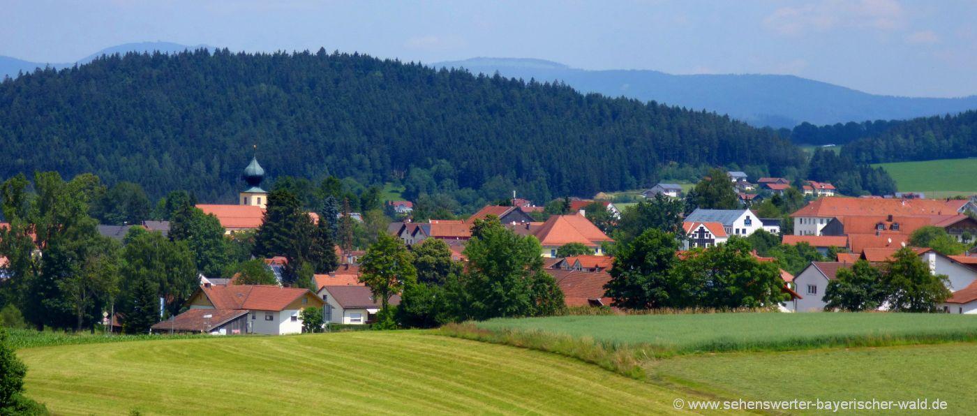 Ausflugsziele in Ruhmannsfelden Sehenswürdigkeiten Bayersicher Wald Landschaft