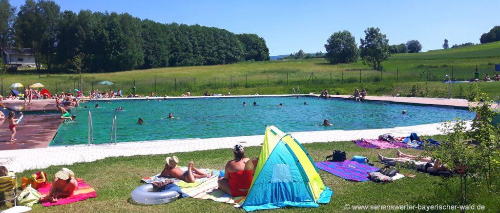 Naturbäder & Baggerseen für Familien mit Kinder in Bayern