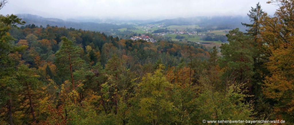 Rundwanderweg Saldenburg und Burgruine Dießenstein