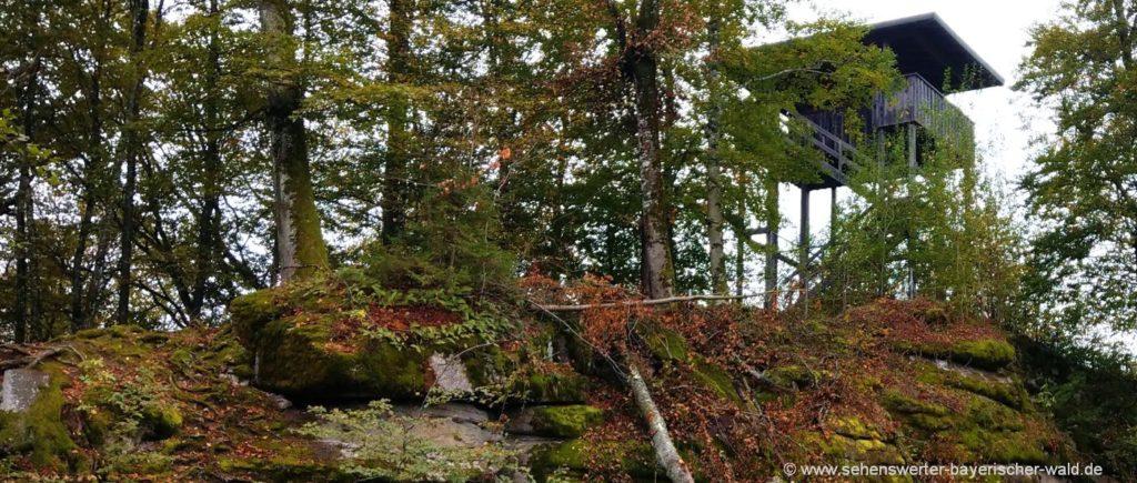 Aussichtsturm bei der Saldenburg Rundweg Sehenswürdigkeit