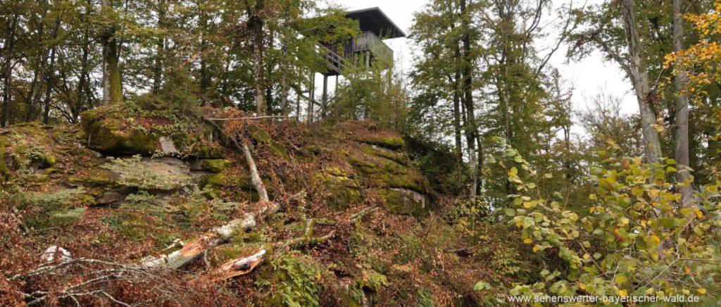 Aussichtsturm beim Schloss Saldenburg am Rundweg Ritter Tuschl
