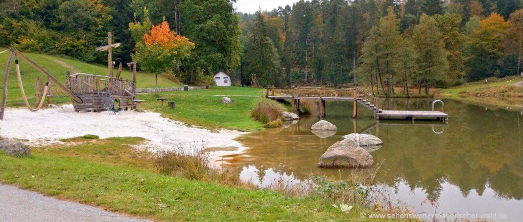 Wanderwege in Saldenburg Rundweg zum Naturbadesee