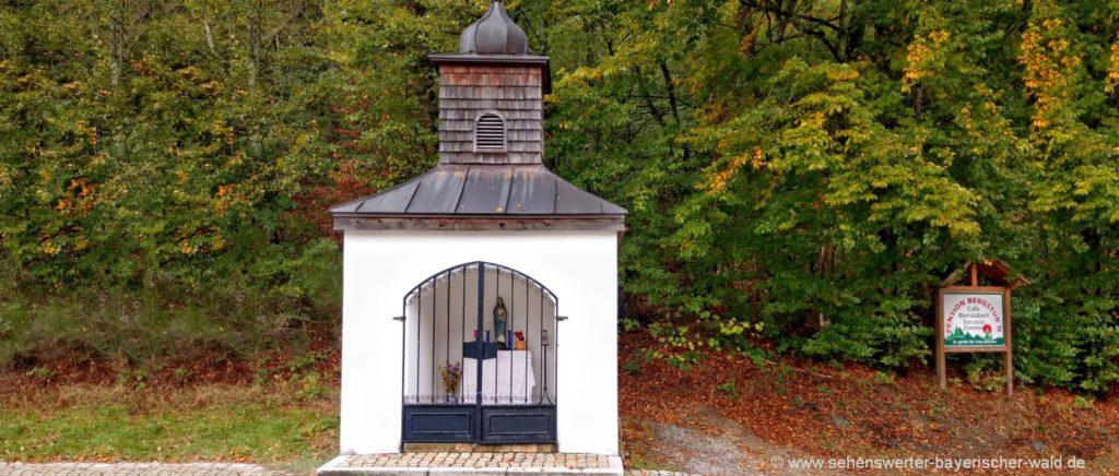 Kapelle in Saldenburg Sehenswürdigkeiten, Ausflugsziele und Wanderwege