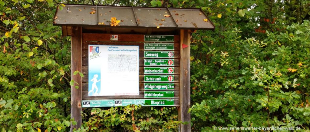 Ökopfad Saldenburg Rundweg mit 1,5 km Länge im Dreiburgenland