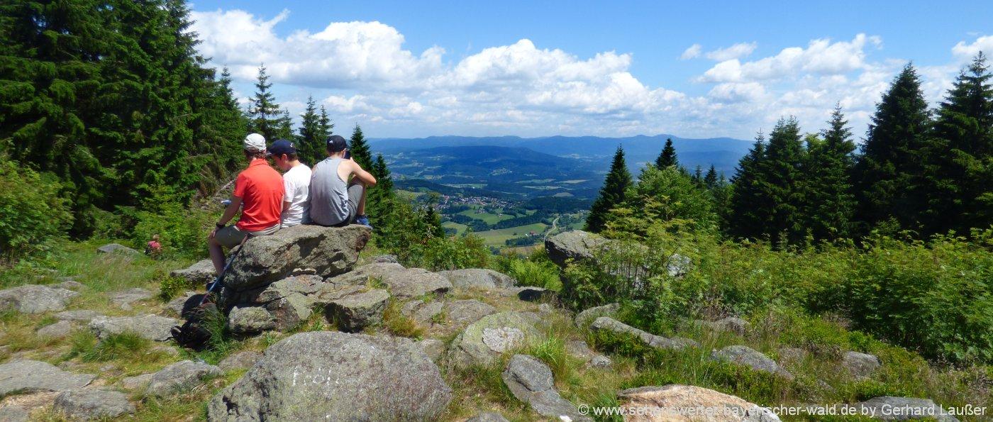 gipfelwanderung Bayerischer Wald Outdoor Erlebnisse in Bayern
