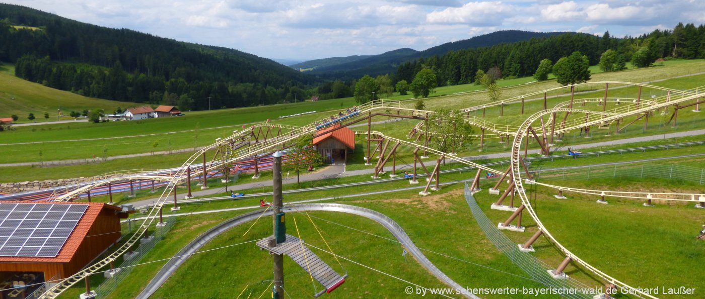 Freizeit in Bayern - Freizeitangebote Bayerischer Wald Sommerrodeln Sankt Englmar