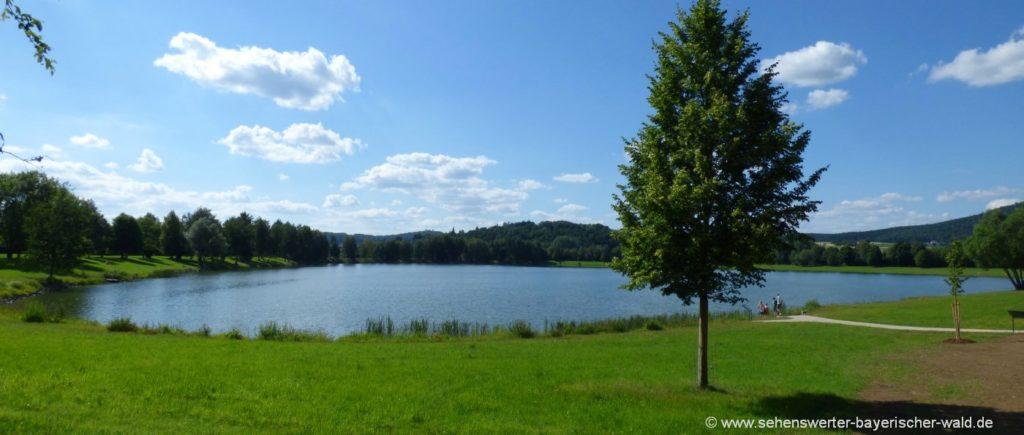 Naherholungsgebiet Satzdorfer See Grünes Klassenzimmer, Rundweg, Badesee