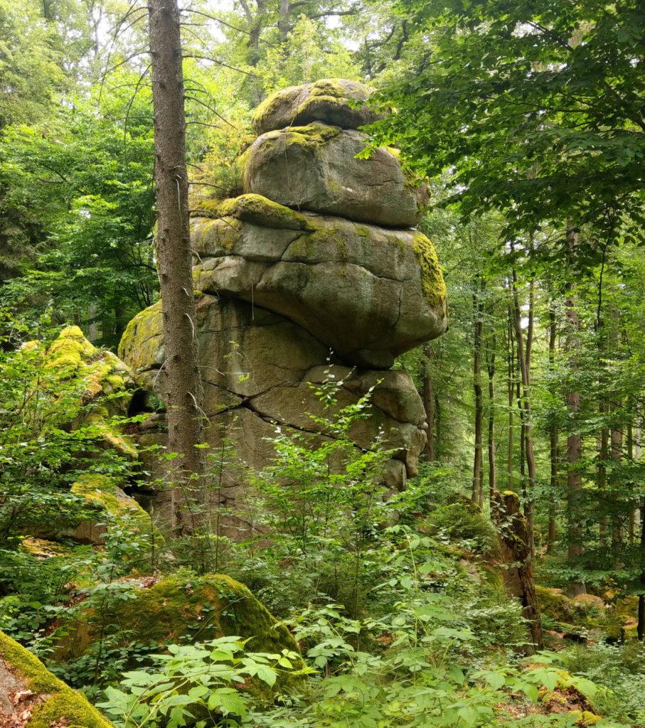 Kletterfelsen im Bayerischen Wald - Klettern Hoher Fels bei Schillertswiesen und Dangelsdorf