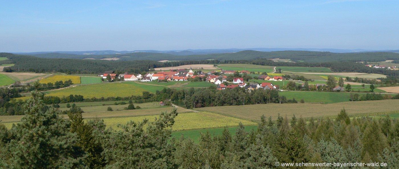 Aussichtsturm Hirschberg in Fuhrn bei Schwandorf & Neunburg vorm Wald