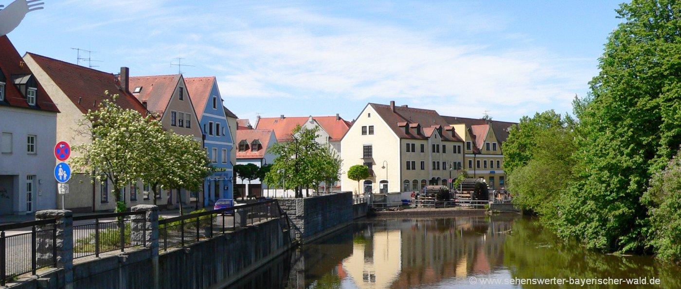 Sehenswertes & Freizeit Aktivitäten am Fluß Naab in Schwandorf