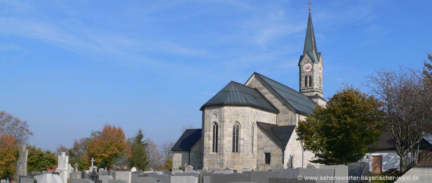Pfarrkirche in Sonnen Ausgangspunkt der Planetenweg Wanderung