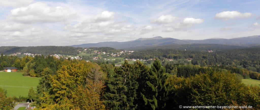 Ausflgstipp Spiegelau Aussichtsturm am Oberkreuzberg Nationalpark