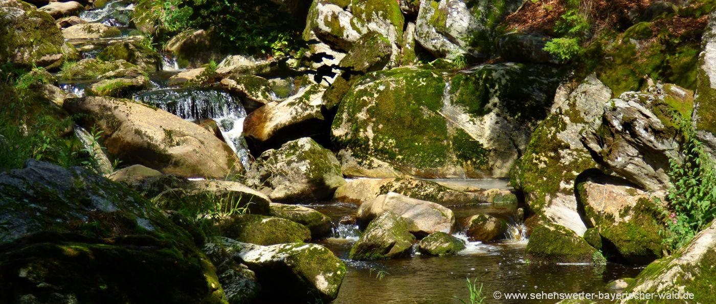 Steinklamm Spiegelau schöne Wildbach Schlucht im Bayerischen Wald