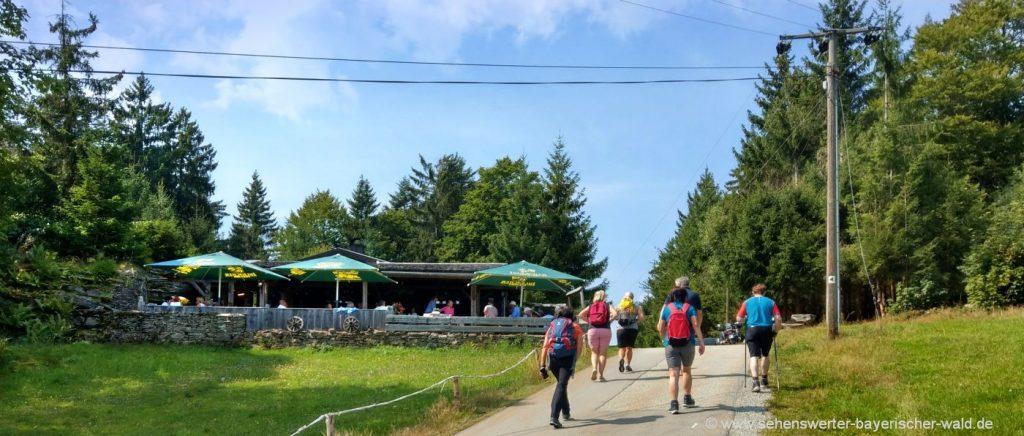St. Englmar Hadriwa Höhensteig Wanderung Hanslhütte Ausflugslokal