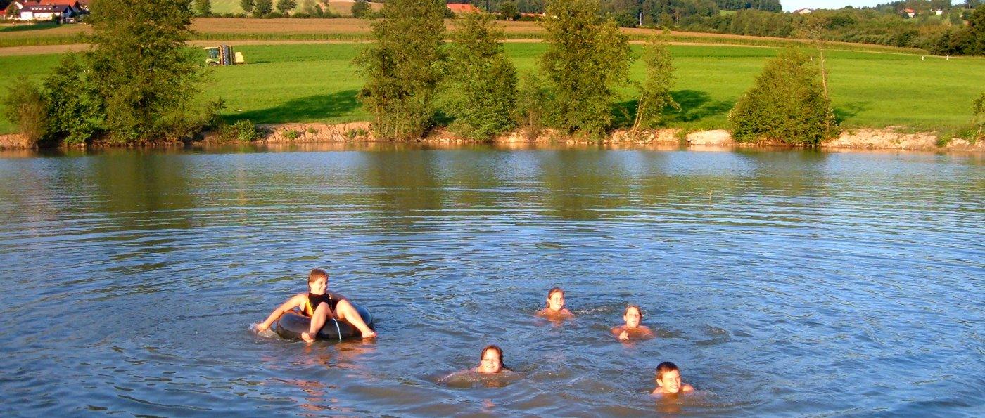 Oberpfalz Erlebnisbauernhof für Familien mit Kinder Badesee