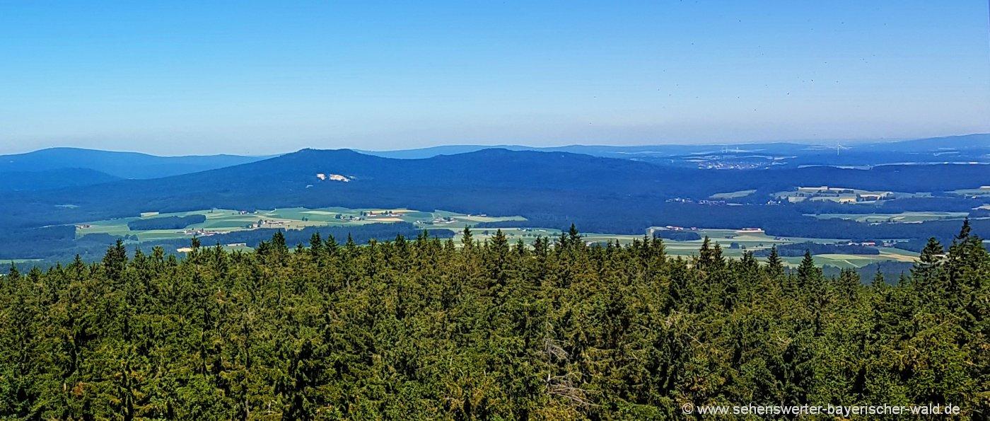 Rundweg im Naturpark Steinwald Aussichtsturm zum Kösseine Gipfel