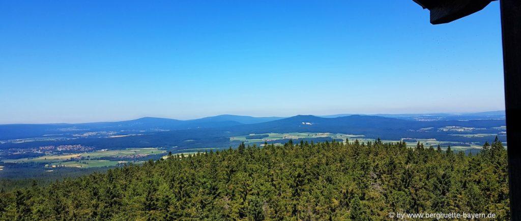 Oberpfalzturm im Steinwand Aussichtspunkt zum Fichtelgebirge