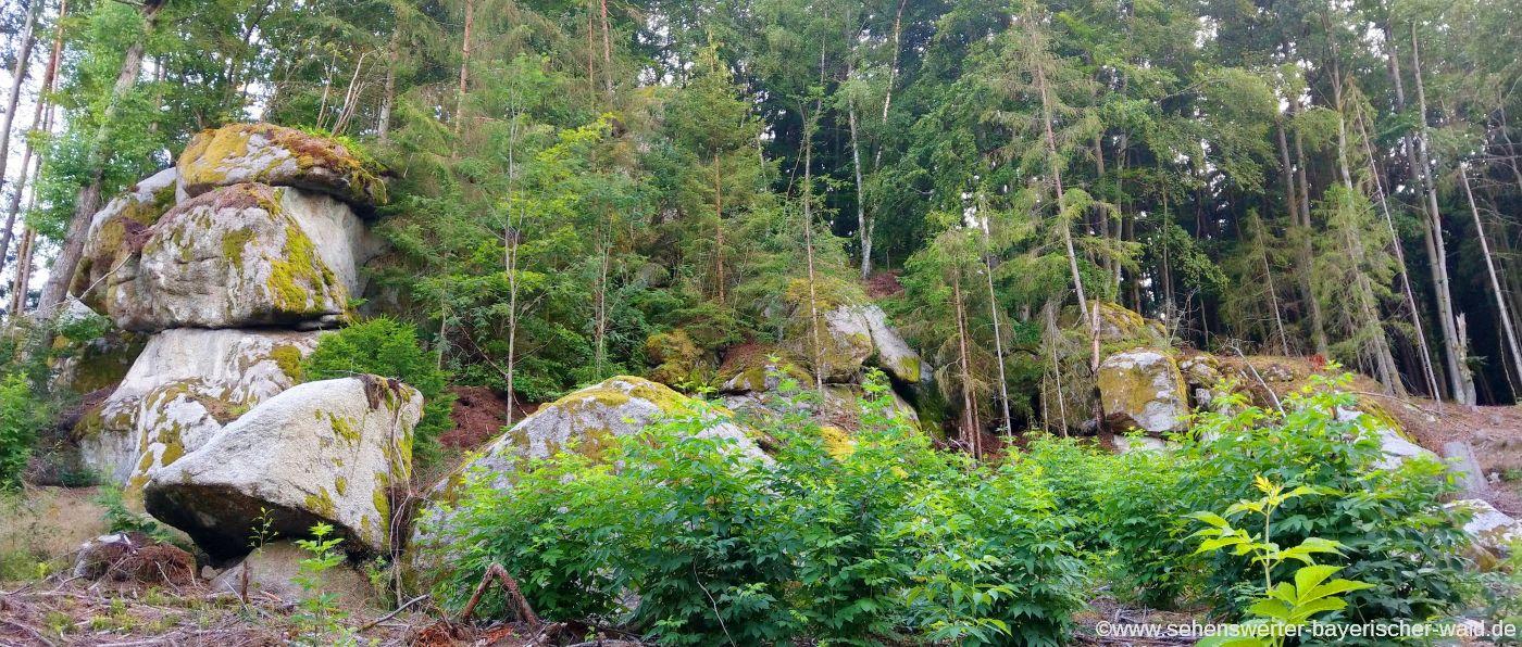 Steinformationen am Opfersteinweg Wd03 Rundwanderweg Süssenbach