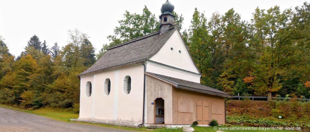 Bründlkapelle Maria Namen in Goben Ausflugsziel bei Thurmansbang