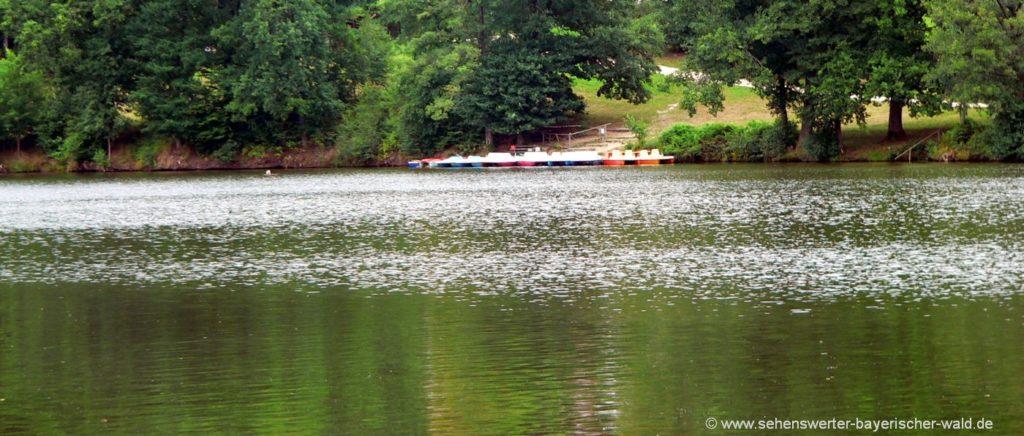 Dreiburgensee Rundweg Rothauer See mit Bootsverleih