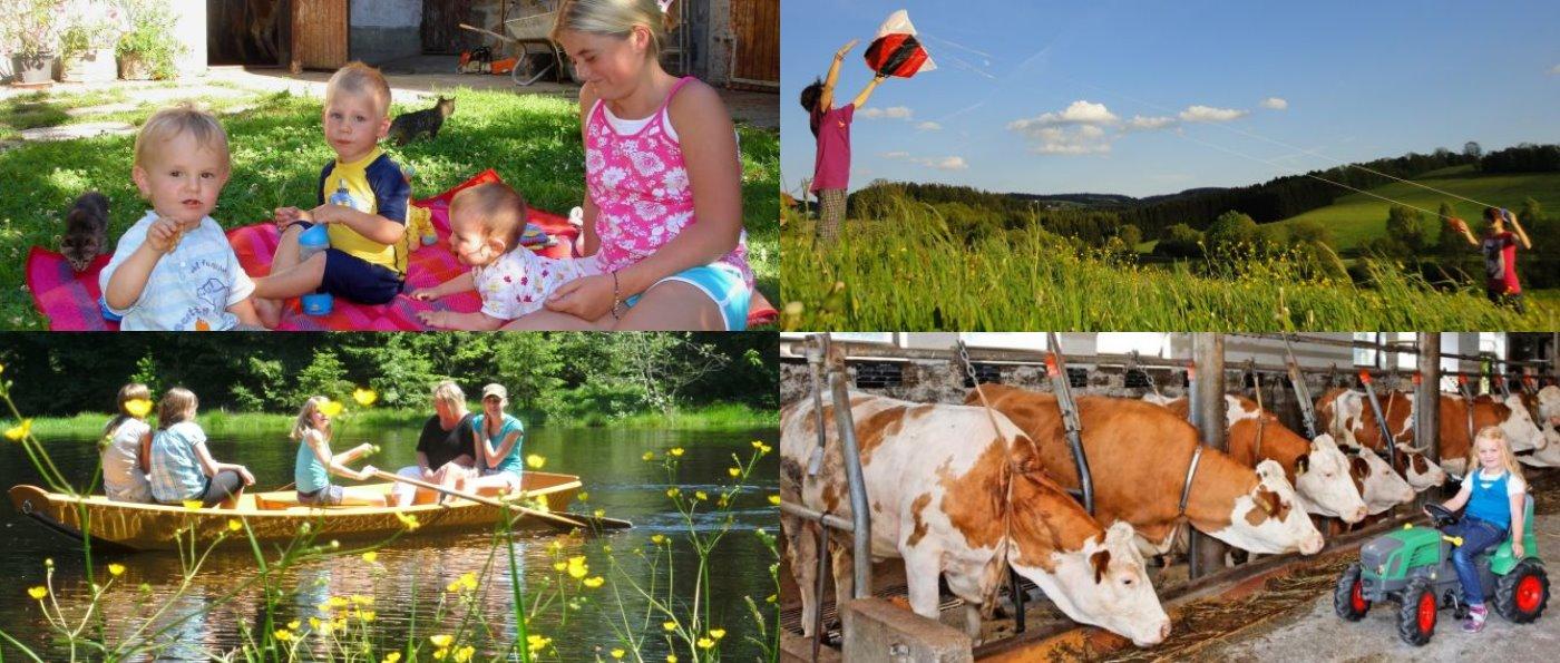 Bauernhofurlaub im Dreiländereck Bayerischer Wald, Österreich, Tschechien
