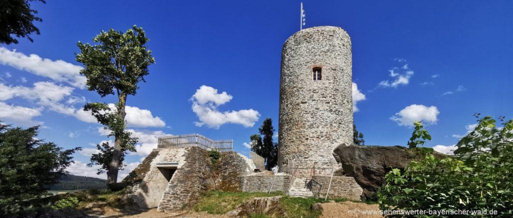 treffelstein-drachenturm-burgruine-waldmünchen-aussichtsturm