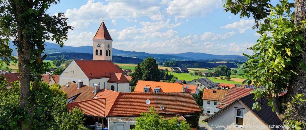 Ausflugsziele in Treffelstein Sehenswürdigkeiten Kirche & Turm