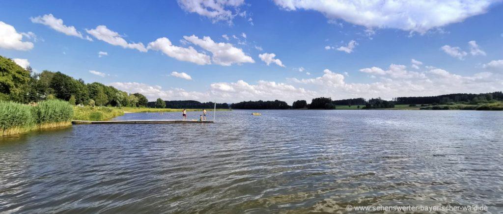 Bayern Camping für Familien mit Kinder Unternehmungen am See