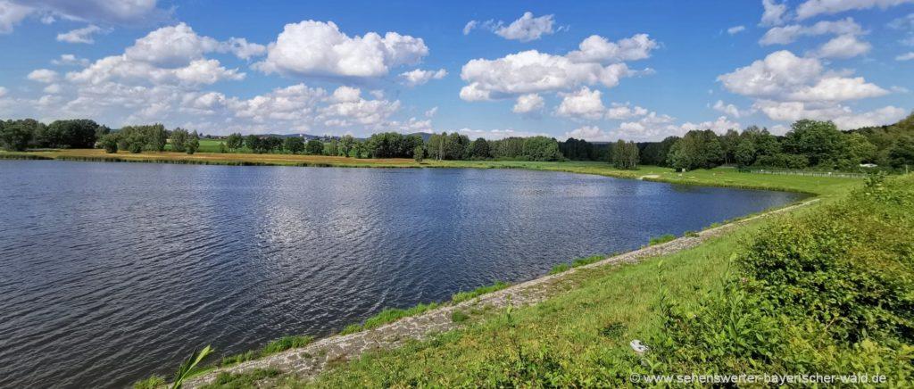 Silbersee bei Treffelstein Rundweg und Badesee bei Waldmünchen