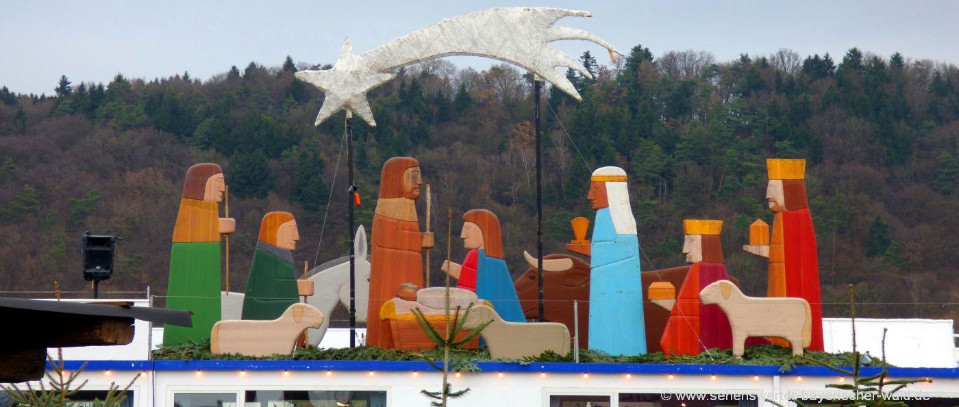 Schwimmender Weihnachtsmarkt in Vilshofen heilige 3 Könige & Stern