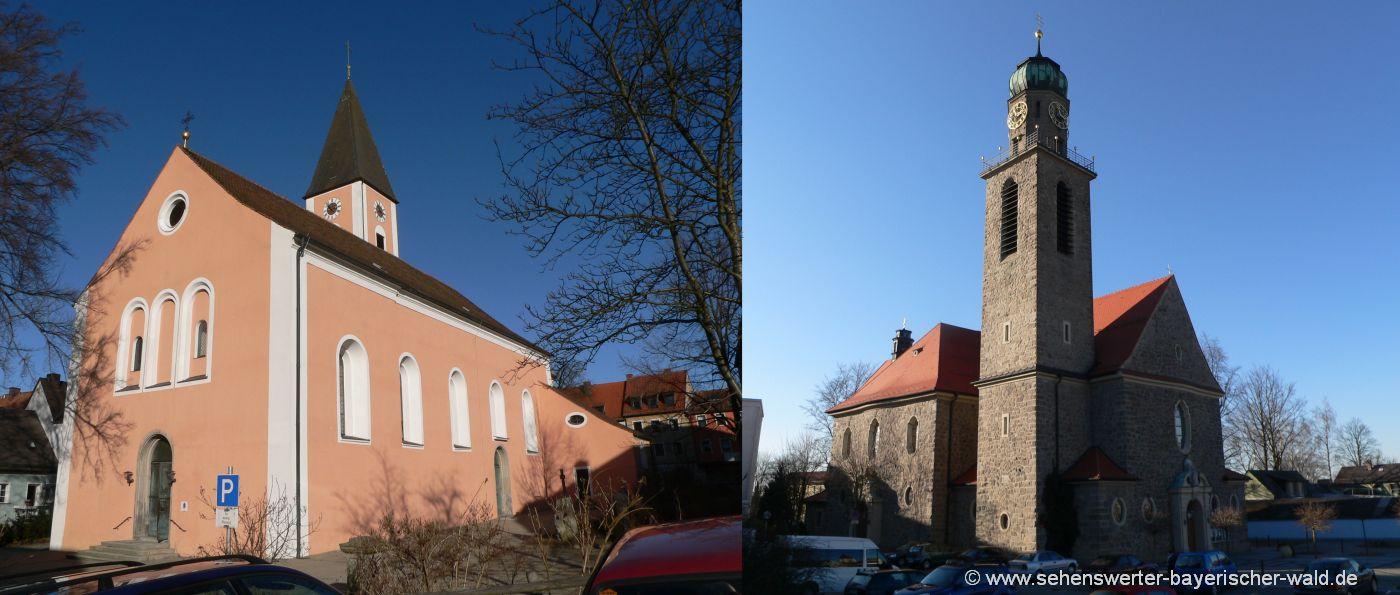 Sehenswürdigkeiten Waidhaus - Katholische und Evangelische Stadtpfarrkirche