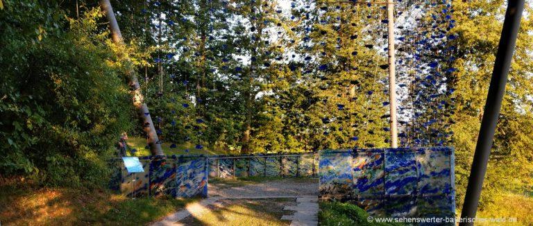 Gartenschau Rundweg in Waldkirchen Kunstprojekt Kristall zwischen Himmel und Erde