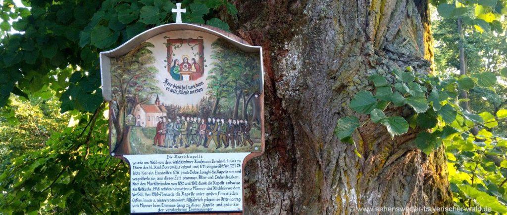 Gartenschau Rundweg in Waldkirchen, Karoli Kapelle im Park