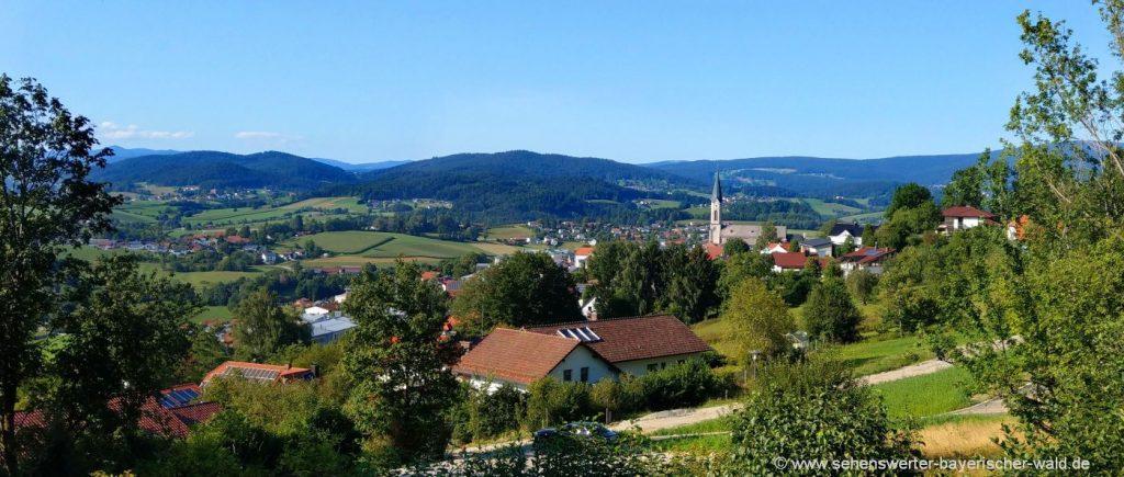 Wanderung am Rundweg in Waldkirchen Rundwanderweg Gartenschau
