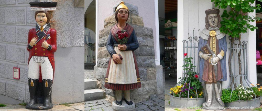 waldkirchen-wahrzeichen-ewige-hochzeiter-steinfiguren-skulpturen-stadtplatz