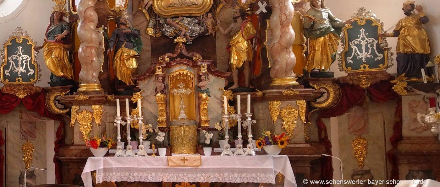 Bayerischer Wald Wallfahrtskirche Weissenregen bei Bad Kötzting