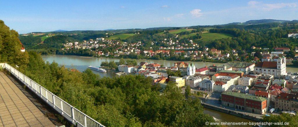 Wandern Landkreis Passau Reiseziel Niederbayern Stadt