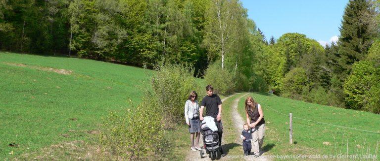wanderurlaub-schaukel-wanderweg-kinderwagen-bayerischer-wald